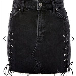 Topshop Denim Tie-up Mini Skirt 🖤